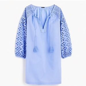 J. Crew Short Eyelet Tunic in Organic Cotton
